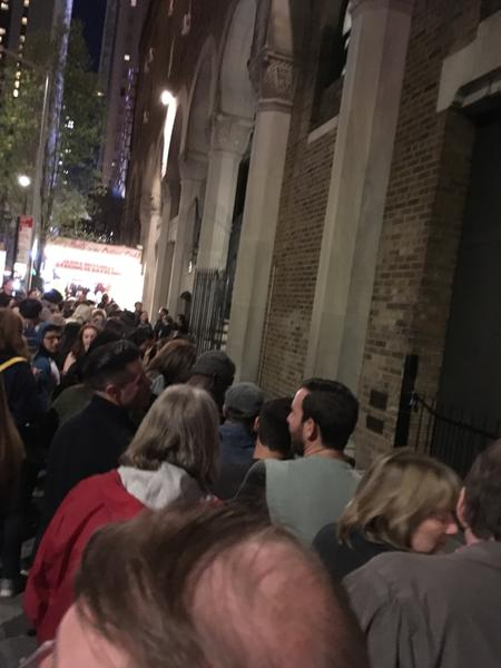 Crowd waiting at stage door after Kinky Boots April 26